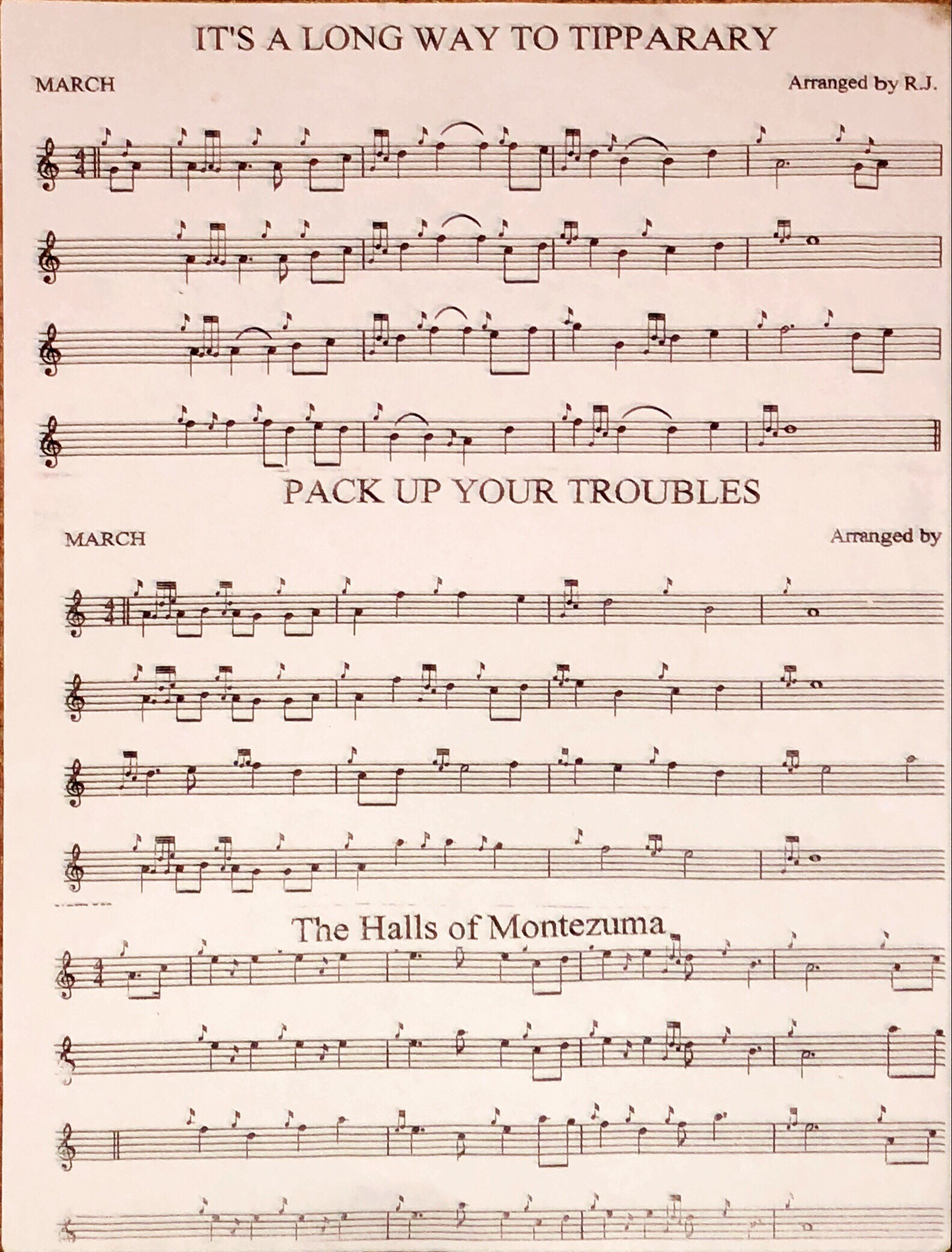 Music sheets needed! Desperate! : bagpipes